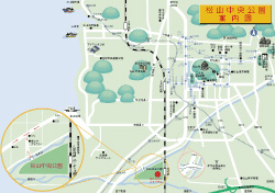松山中央公園周辺案内図